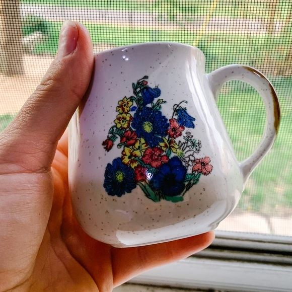 Vintage Ceramic Floral Mug